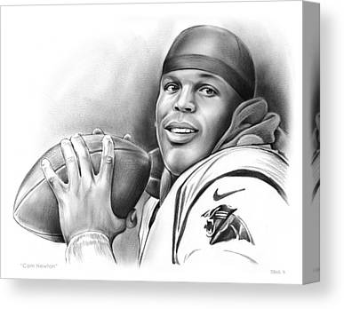 Panthers Drawings Canvas Prints