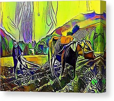 Agronomy Digital Art Canvas Prints
