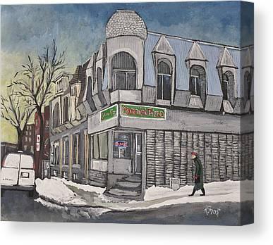 Montreal Pizza Places Canvas Prints
