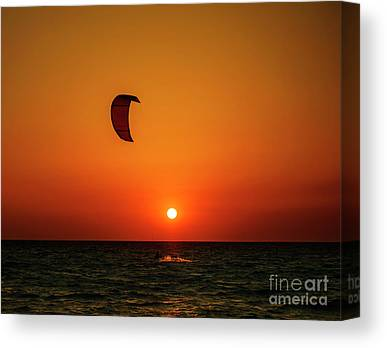 Kite Boarding Canvas Prints