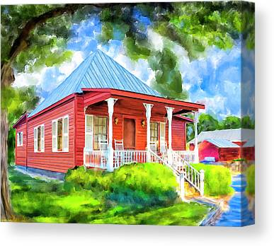 Charming Cottage Mixed Media Canvas Prints