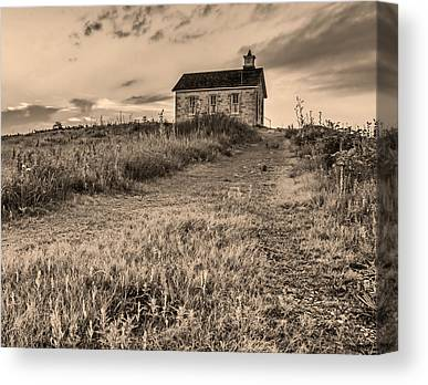 Old School Houses Canvas Prints