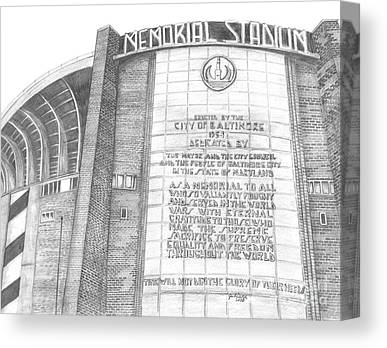 Baltimore Orieols Stadium Canvas Prints