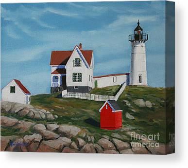 Maine Shore Canvas Prints