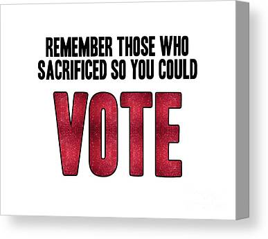 Voters Digital Art Canvas Prints