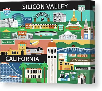 Silicon Valley Canvas Prints
