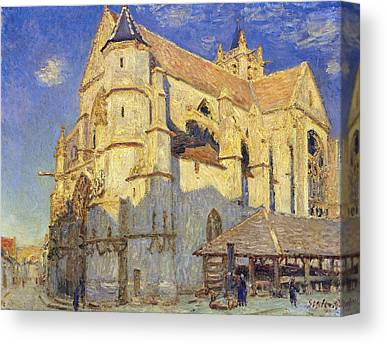 The Church At Moret Canvas Prints