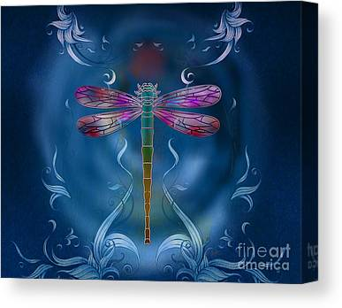 Metal Dragonfly Canvas Prints