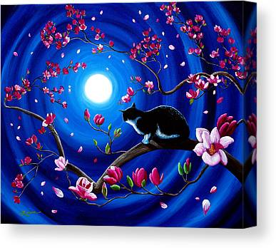 Black White And Pink Paintings Canvas Prints