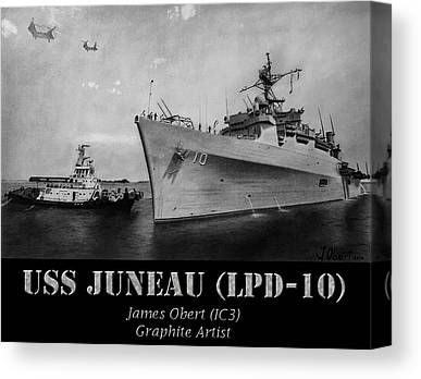 Us Navy Drawings Canvas Prints