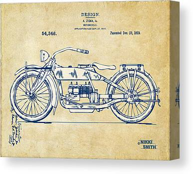 Motorcycle Canvas Prints