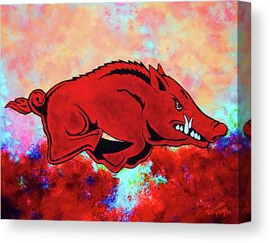 Calling The Hogs Digital Art Canvas Prints