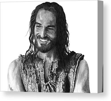 Jesus Christ Drawings Canvas Prints