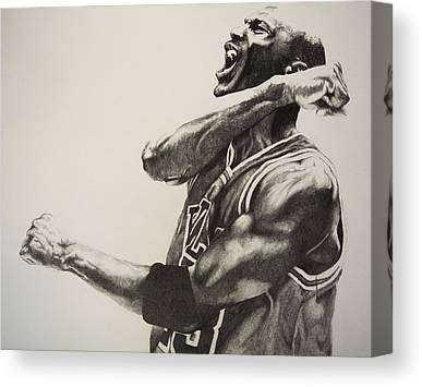 Nba Drawings Canvas Prints