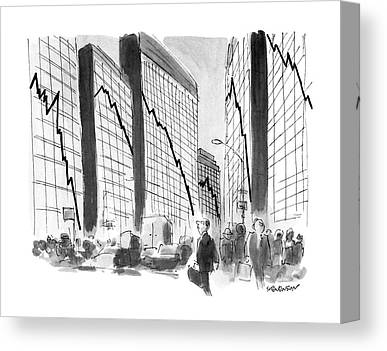 Glass Wall Drawings Canvas Prints