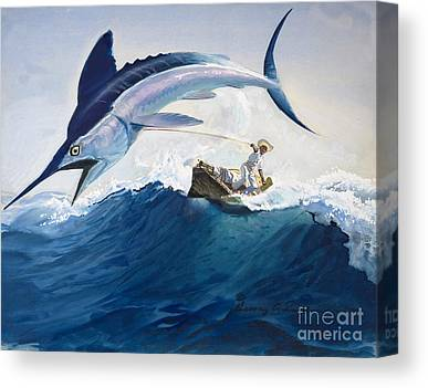 Angler Canvas Prints