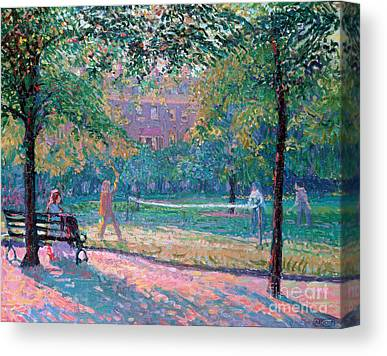 Park Bench Canvas Prints