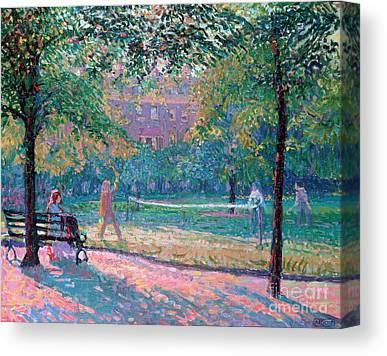 Park Benches Canvas Prints