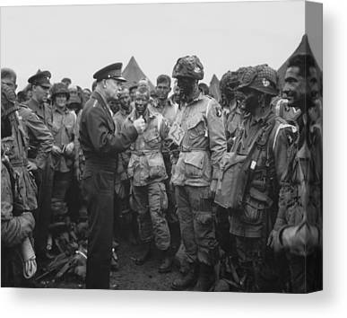 General Dwight D Eisenhower Canvas Prints