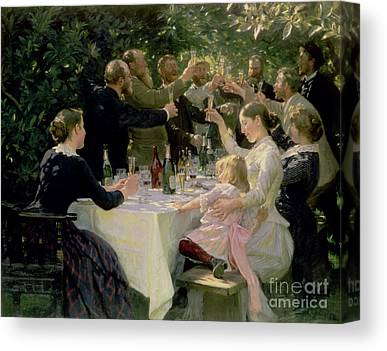 Champagne Glasses Canvas Prints