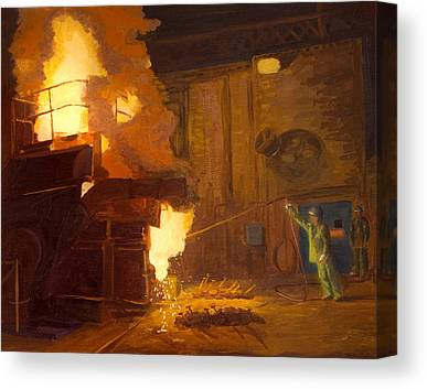Arc Furnace Canvas Prints
