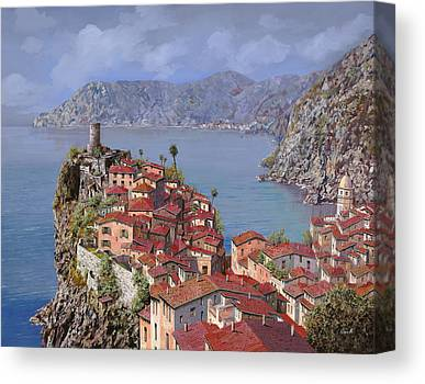 Red Roof Canvas Prints
