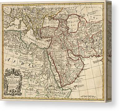 Middle East Drawings Canvas Prints