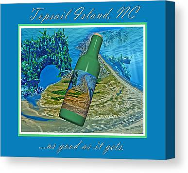 Wine Scene Mixed Media Canvas Prints