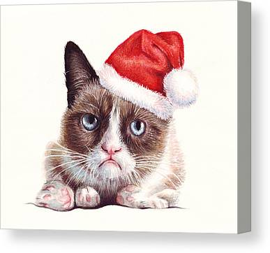 Santa Hat Canvas Prints