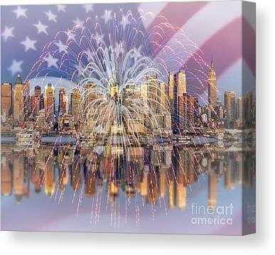 American Independance Digital Art Canvas Prints