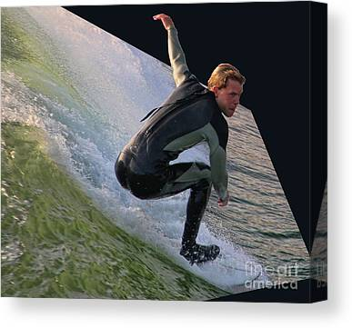 Surfin The Wave Canvas Prints