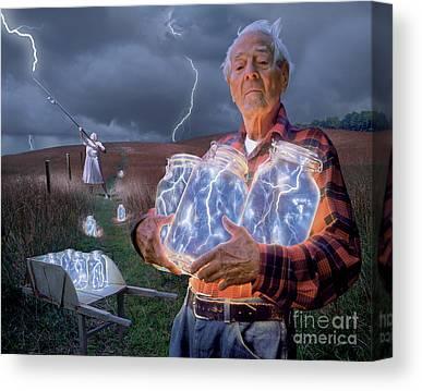 Lightning Canvas Prints