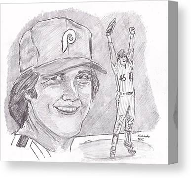 Fightin Phils Drawings Canvas Prints