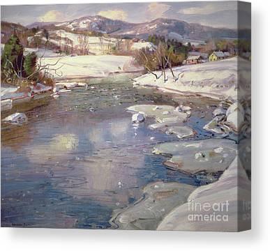 Deerfield River Canvas Prints