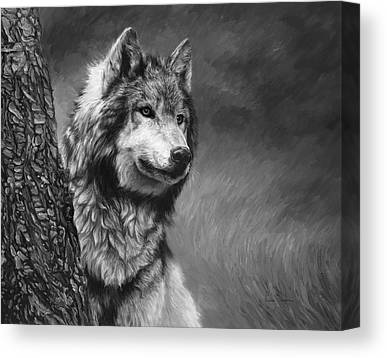 Timber Wolf Canvas Prints
