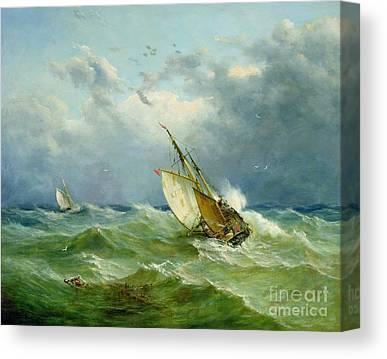 Trawler Paintings Canvas Prints