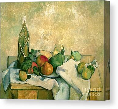 Still Life With Bottle Canvas Prints