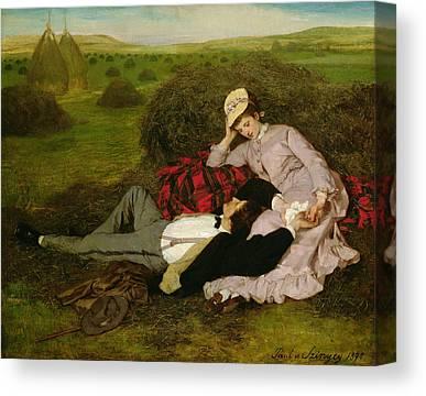 Hayfield Canvas Prints