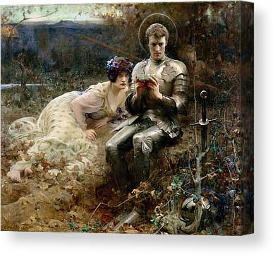 The Temptation Of Sir Percival Canvas Prints