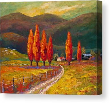 Italian Landscape Mixed Media Canvas Prints