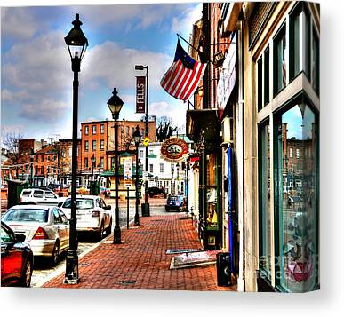 Fells Point Baltimore Maryland Canvas Prints