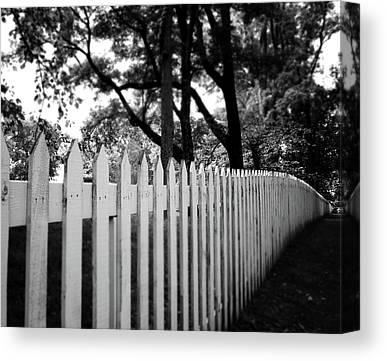 Picket Fence Canvas Prints