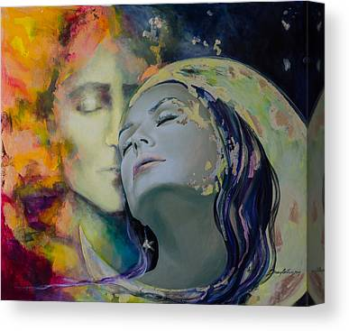 Kiss Paintings Canvas Prints