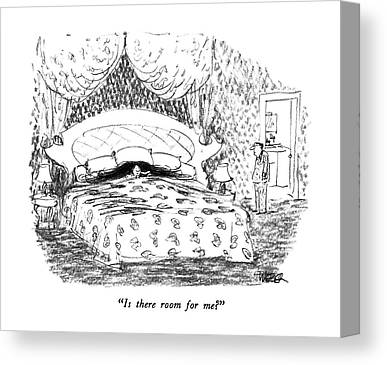 Bed Spread Drawings Canvas Prints