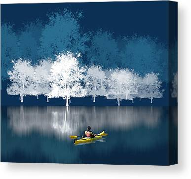 Kayaks Canvas Prints