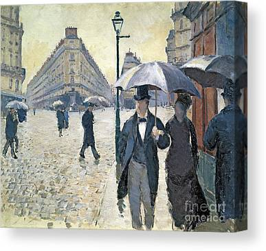 City Streets Paintings Canvas Prints