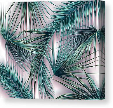 Red Leaf Digital Art Canvas Prints