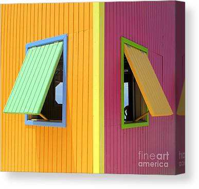 Cabin Window Canvas Prints