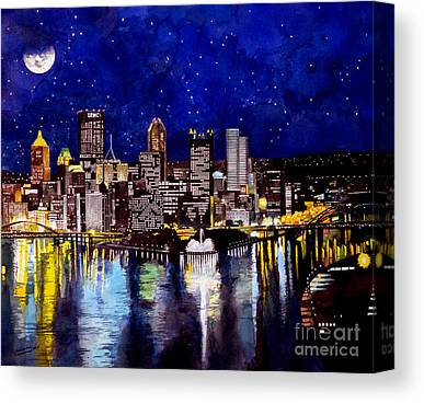 Hill District Paintings Canvas Prints
