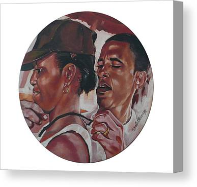 Michelle And Barack Obama - Campaign Year Canvas Prints